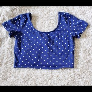 Make offer H&M polka dot crop top